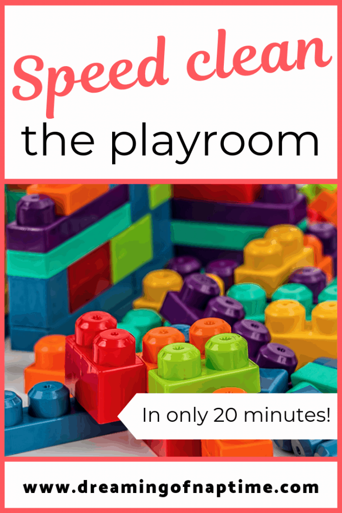 If your playroom is a mess, this is a must read. Learn how to speed clean the playroom in 20 minutes or less.