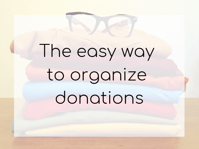Take the sweat out of donating with these four easy steps!