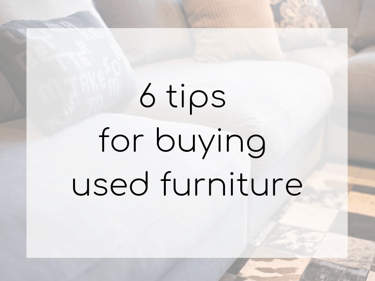 Easy tips to save money on furniture