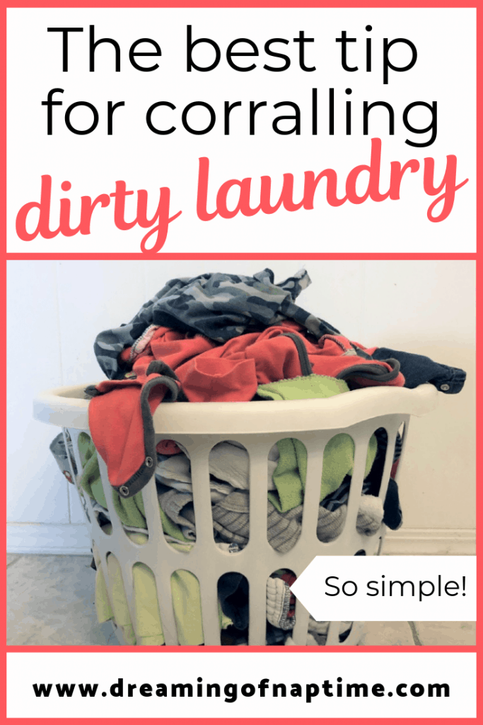 Ever wonder how to get your family to put their dirty laundry where it belongs, in the laundry bin? Follow this simple trick to make taking care of dirty laundry so easy, you can do it in your sleep.