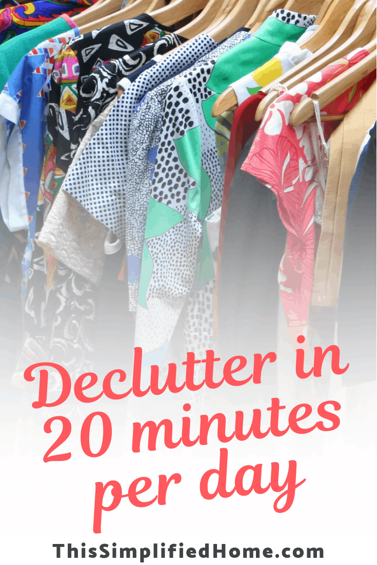 Maybe you're like me and never have a free weekend to devote to decluttering. Read this post to learn how you can do it with only 20 minutes per day.