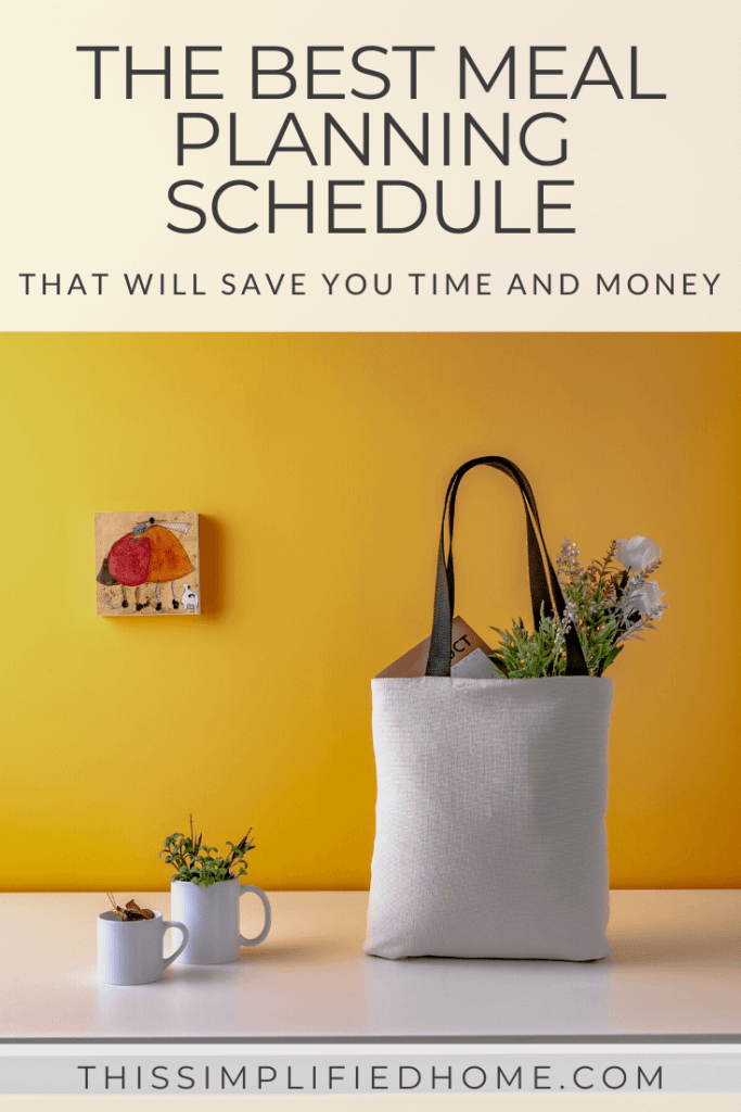 Tired of wondering what's for dinner and rushing out for fast food...again? Here's the best meal planning schedule that will save you both time and money.