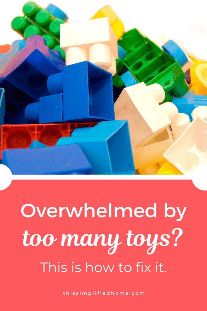 If you're drowning in toys, you're not alone. Toys bombard us from every direction. Here are 6 tips to reduce frustration from having too many toys.