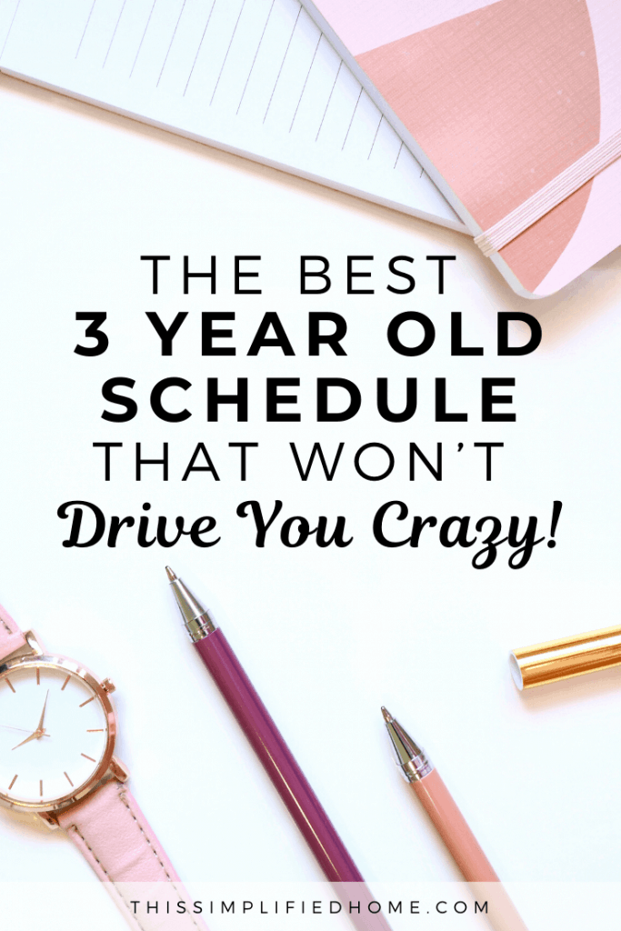 Do you frantically run around trying to get some control in the chaos? I've been there. Here's the best 3-year-old schedule that works.