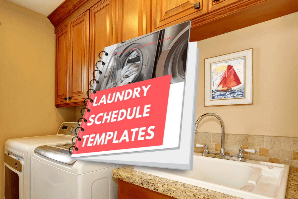 Laundry schedule templates
