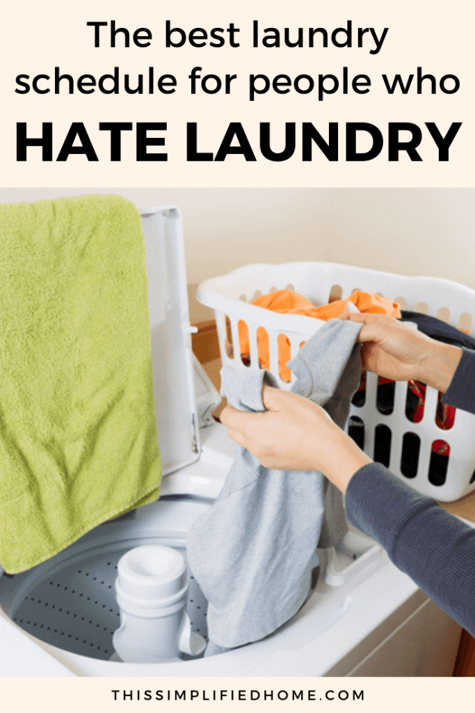 Who doesn't hate laundry? It's neverending and can take over your home. Learn how to create a simple laundry schedule and get control of the laundry.