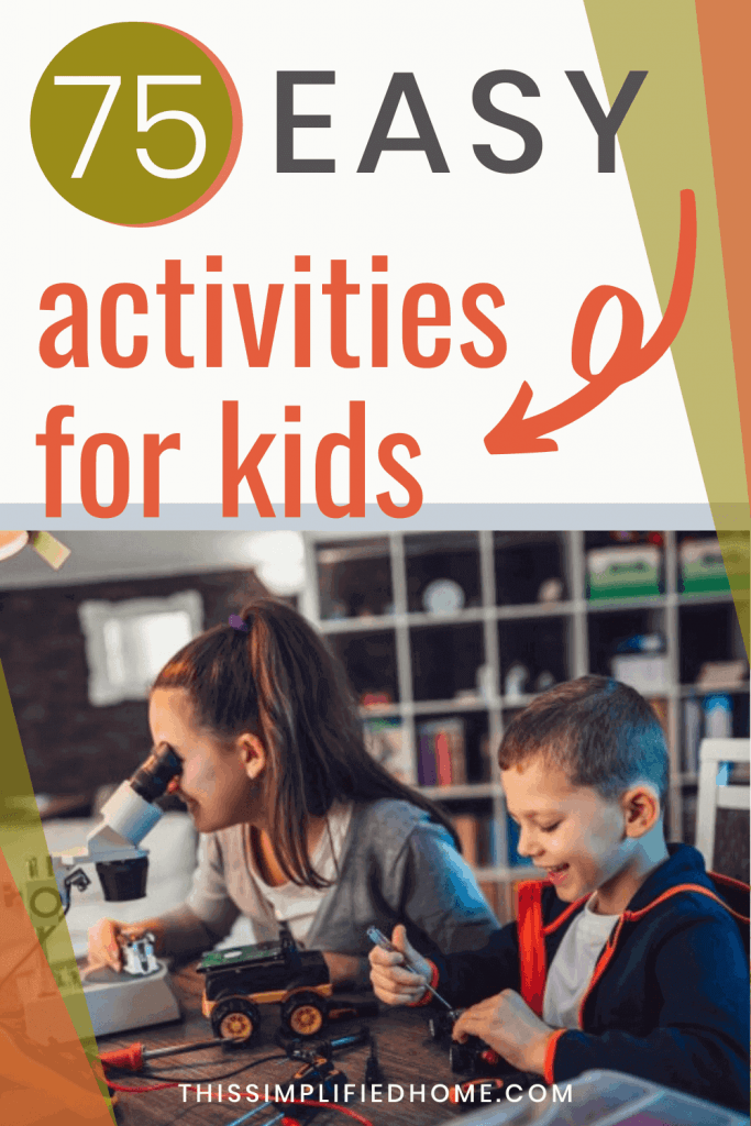 Stuck in the house and looking for easy activities for kids to do at home? In this post, you'll find 75+ ideas ranging from science to literacy to social.