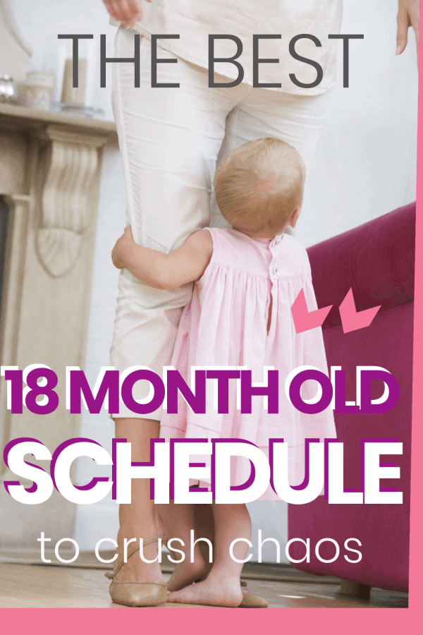 Tantrums, tears, and kicks, oh my! If you've about had it, here's the best 18 month old schedule to crush the chaos (and hopefully curb the tantrums. 🤞