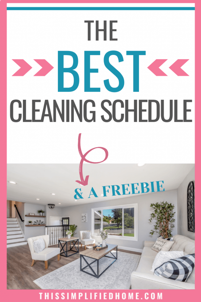 Want a clean home but hate to clean? Here's the best stay at home mom cleaning schedule. You can make the biggest impact with the least amount of time.