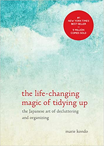 "Front cover of ""The Life-Changing Magic of Tidying Up"" by Marie Kondo."