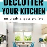 Stressed out by a cluttered kitchen and don't know where to start? Follow these 6 tips from a reformed hoarder to declutter and organize your kitchen.